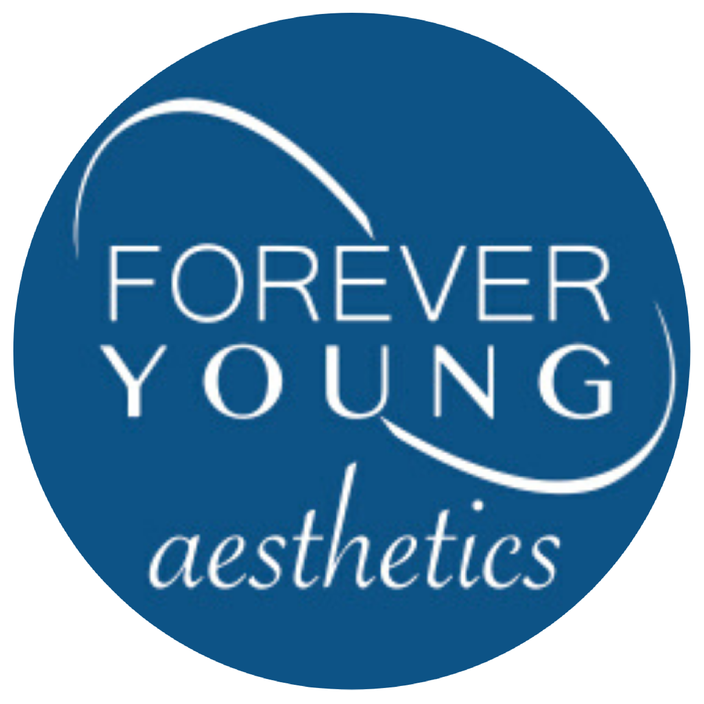 forever young aesthetics round logo