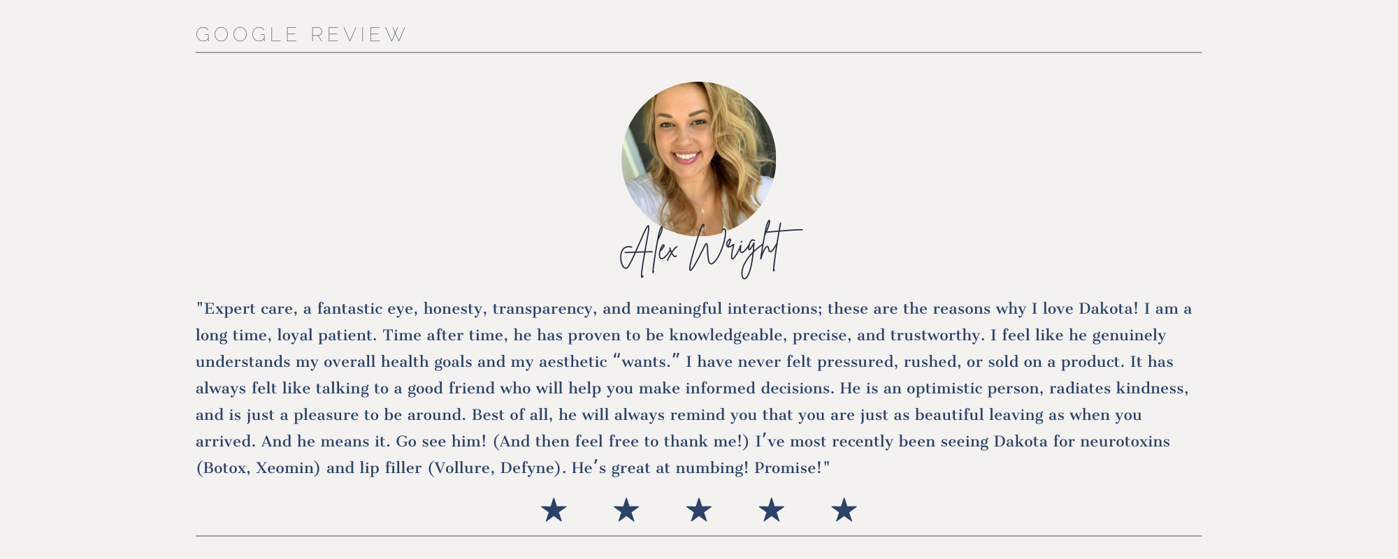 Testimonial about Forever Young Aesthetics in Tampa FL