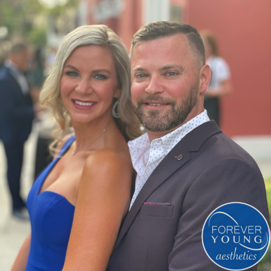 Rick Young with wife Ashley Young in Tampa, Florida