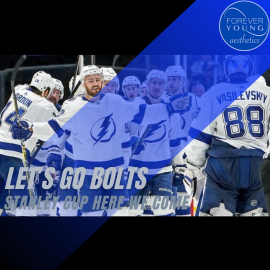 Tampa Bay Lightning Team Support at Forever Young Aesthetics in Tampa, FL