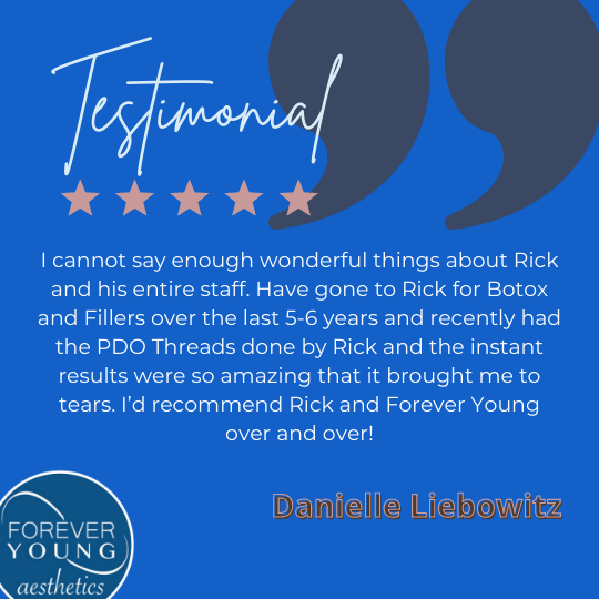 Testimonial for Medspa Forever Young Aesthetics in Tampa Bay, Florida