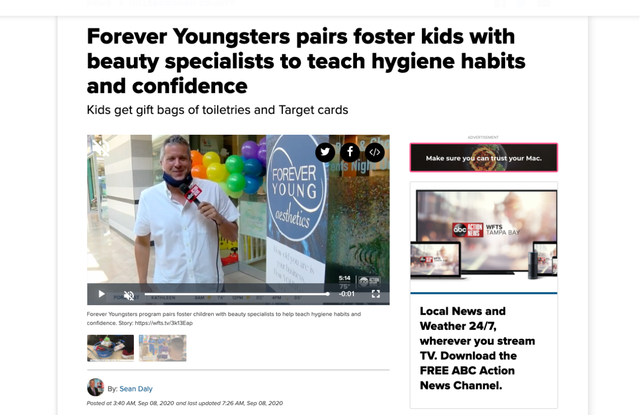 Youngsters on ABC News in Tampa FL